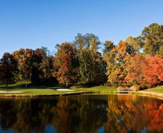 turf-valley-resort-golf-hole-pond 13 tee box