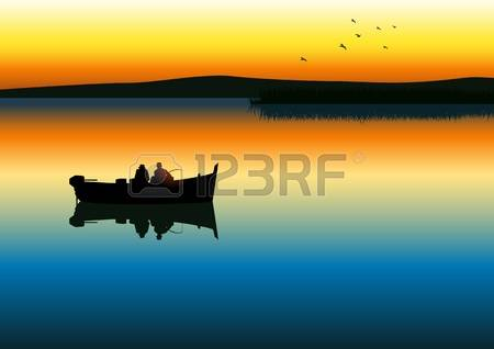 12137903-illustration-of-two-men-silhouette-fishing-on-tranquil-lake